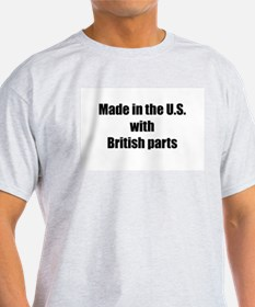 Made in the U.S. with British Parts Ash Grey T-Shi