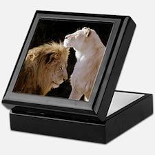 Lion and Lioness Yin Yang Keepsake Box