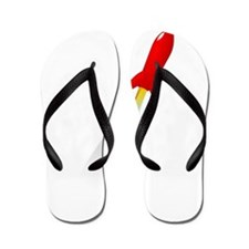 Red Rocket Space Ship Flip Flops