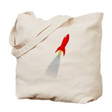 Red Rocket Space Ship Tote Bag