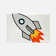 Cartoon Rocket Space Ship Rectangle Magnet