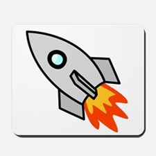 Cartoon Rocket Space Ship Mousepad
