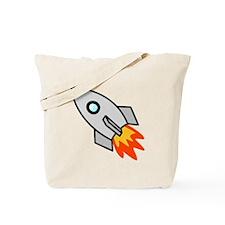 Cartoon Rocket Space Ship Tote Bag