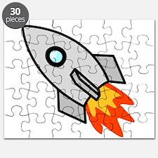 Cartoon Rocket Space Ship Puzzle