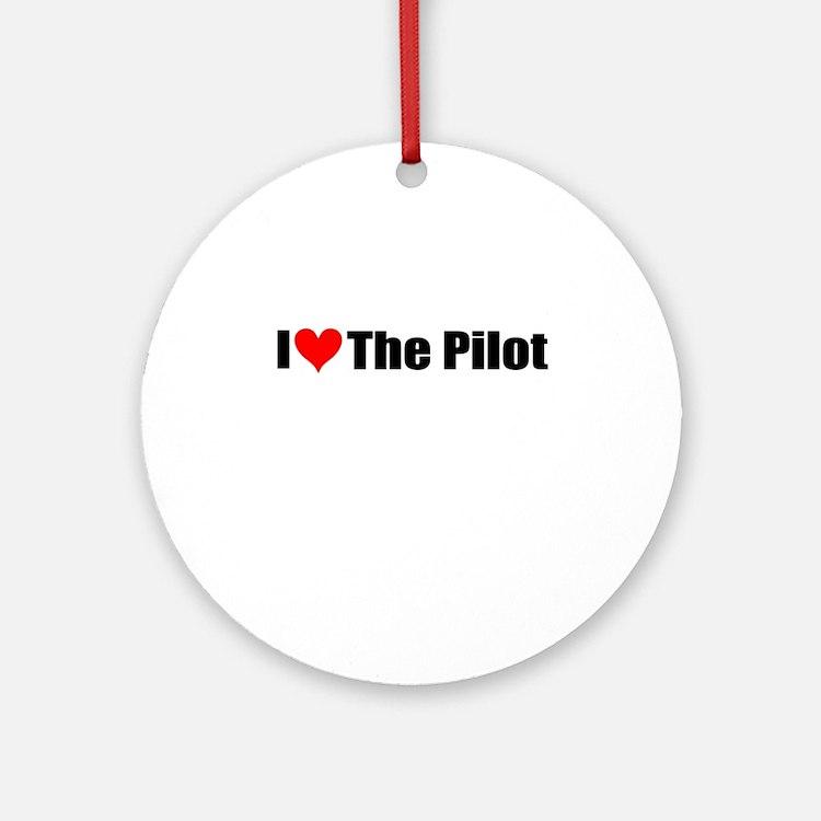 I Love the Pilot Ornament (Round)