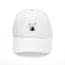 Bowling Ball and Pins Baseball Baseball Cap