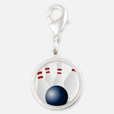 Bowling Ball and Pins Charms