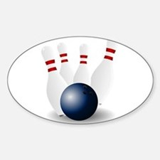 Bowling Ball and Pins Decal