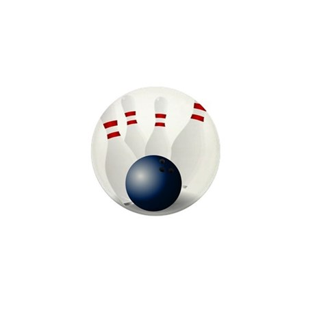 Bowling Ball and Pins Mini Button (100 pack)