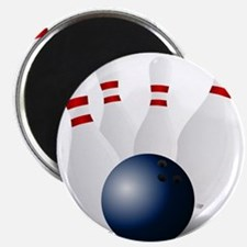 """Bowling Ball and Pins 2.25"""" Magnet (10 pack)"""