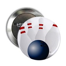 """Bowling Ball and Pins 2.25"""" Button (10 pack)"""