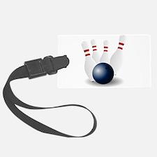 Bowling Ball and Pins Luggage Tag