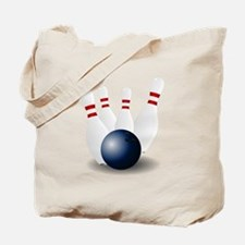 Bowling Ball and Pins Tote Bag