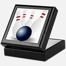 Bowling Ball and Pins Keepsake Box
