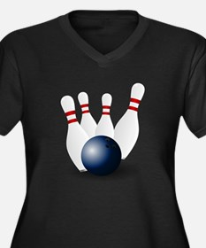 Bowling Ball and Pins Plus Size T-Shirt