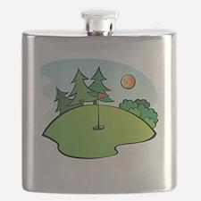 Cartoon Golf Course Flask