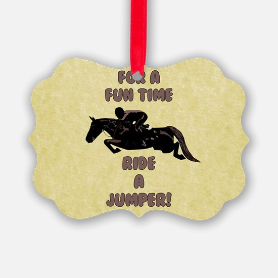 For a Fun Time, Ride A J Ornament