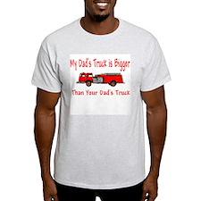 Firetruck Daddy Ash Grey T-Shirt