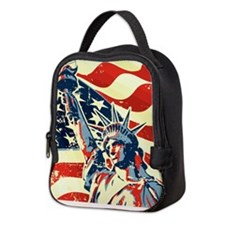 Happy Independence Day Neoprene Lunch Bag