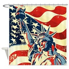 Happy Independence Day Shower Curtain