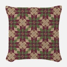 Burgundy Green Throw Pillows : Quilt Block Pillows, Quilt Block Throw Pillows & Decorative Couch Pillows