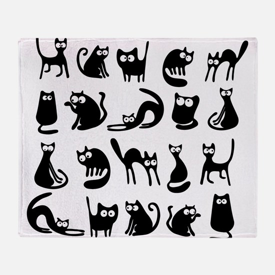 Funny cats Throw Blanket