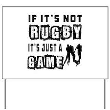 Rugby Designs Yard Sign
