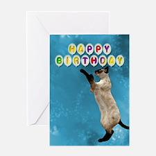 Siamese cat birthday card. Greeting Card
