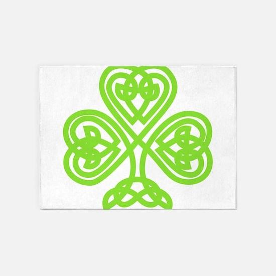 Cute Celtic clover 5'x7'Area Rug