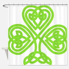 Cute Celtic clover Shower Curtain