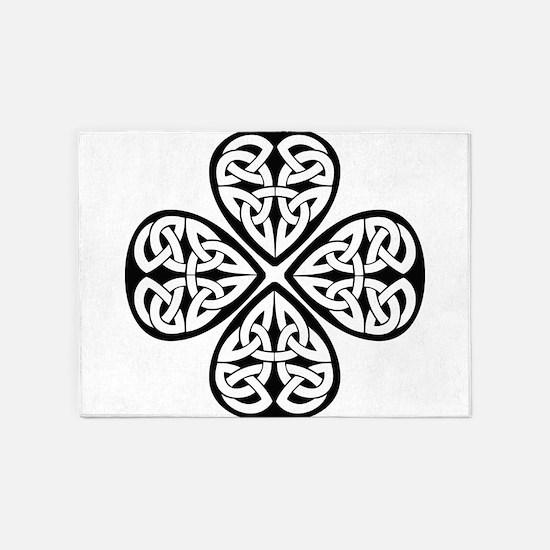 Celtic Clover 5'x7'Area Rug