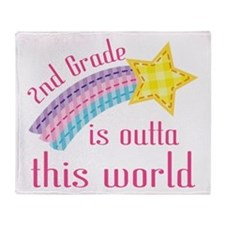2nd Grade Outta This World Throw Blanket