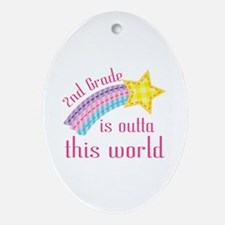 2nd Grade Outta This World Ornament (Oval)