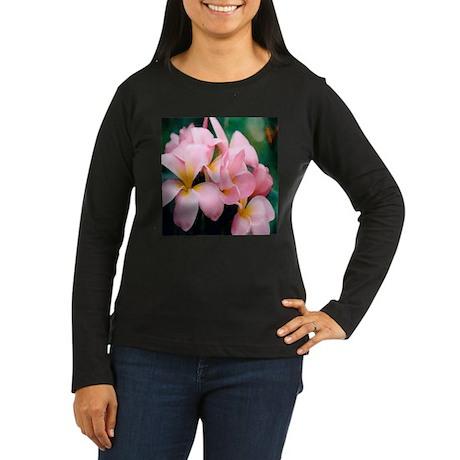 Plumeria Women's Long Sleeve Dark T-Shirt