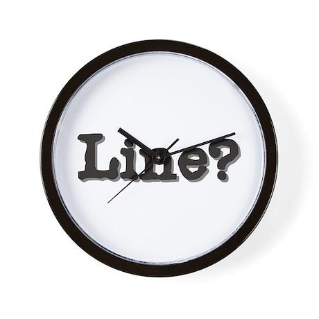 Line? Wall Clock