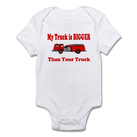 My Truck Is Bigger-Fire Infant Bodysuit