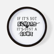 Squash Designs Wall Clock