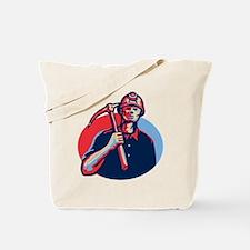 Coal Miner Pick Axe Retro Tote Bag