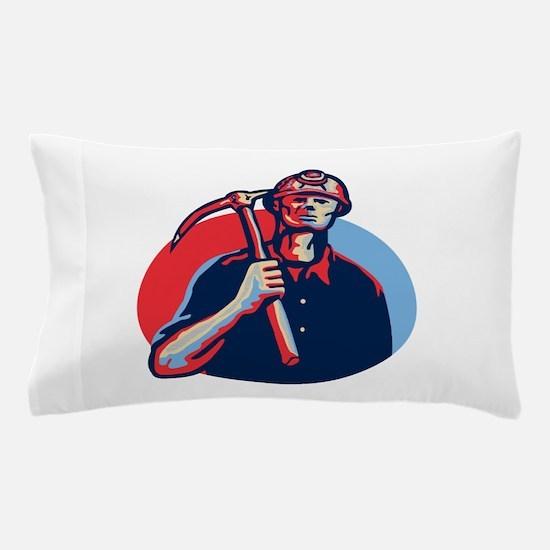 Coal Miner Pick Axe Retro Pillow Case