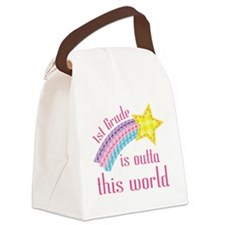 1st Grade Is Outta This World Canvas Lunch Bag