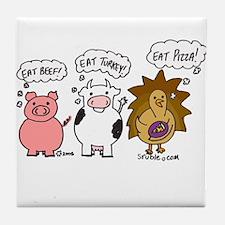 Eat Pizza! Tile Coaster