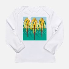 Cyclist Riding Bicycle Cycling Retro Long Sleeve T