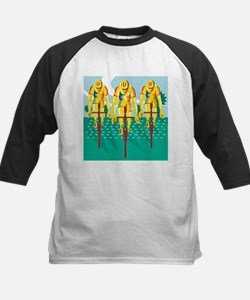 Cyclist Riding Bicycle Cycling Retro Baseball Jers