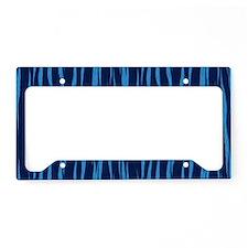 Blue Big Cat Fur License Plate Holder