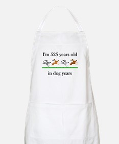 75 dog years birthday 1 Apron