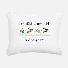 75 dog years birthday 1 Rectangular Canvas Pillow