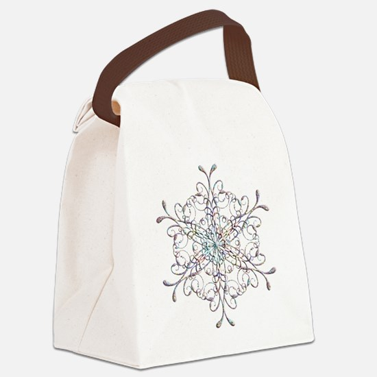 Iridescent Snowflake Canvas Lunch Bag