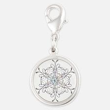 Iridescent Snowflake Charms