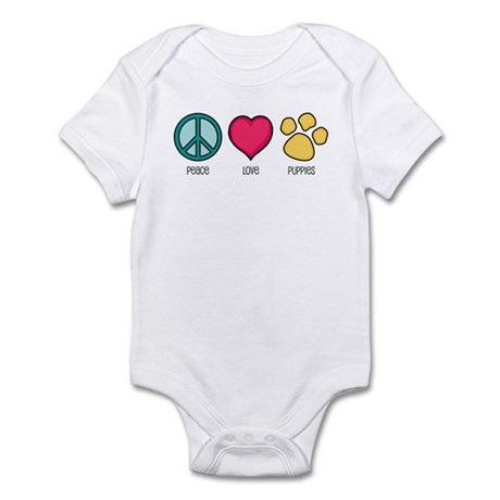 Peace Love & Puppies Infant Bodysuit