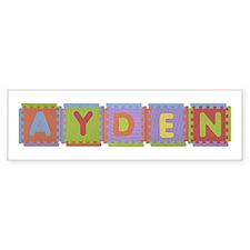 Ayden Foam Squares Bumper Bumper Sticker